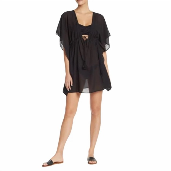 Free Press Sidney Deep V-Neck Cover-Up Tunic